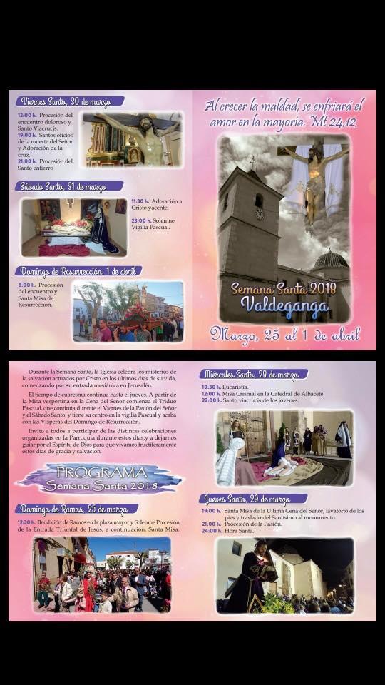 Programa Semana Santa - Ayuntamiento Valdeganga